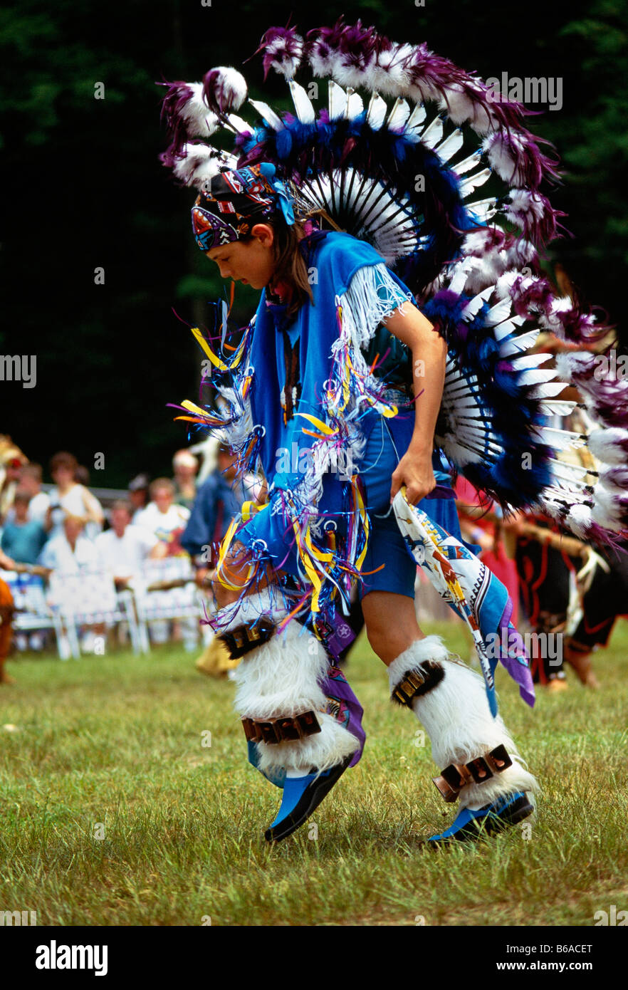 Dancer At Native American Indian Pow Wow Forksville