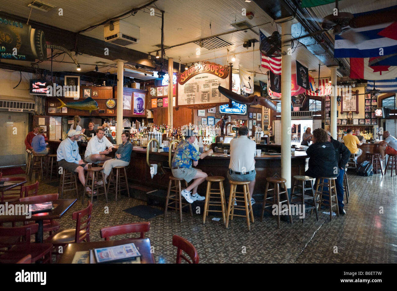 Interior Of Sloppy Joe S Saloon Duval Street In The Old