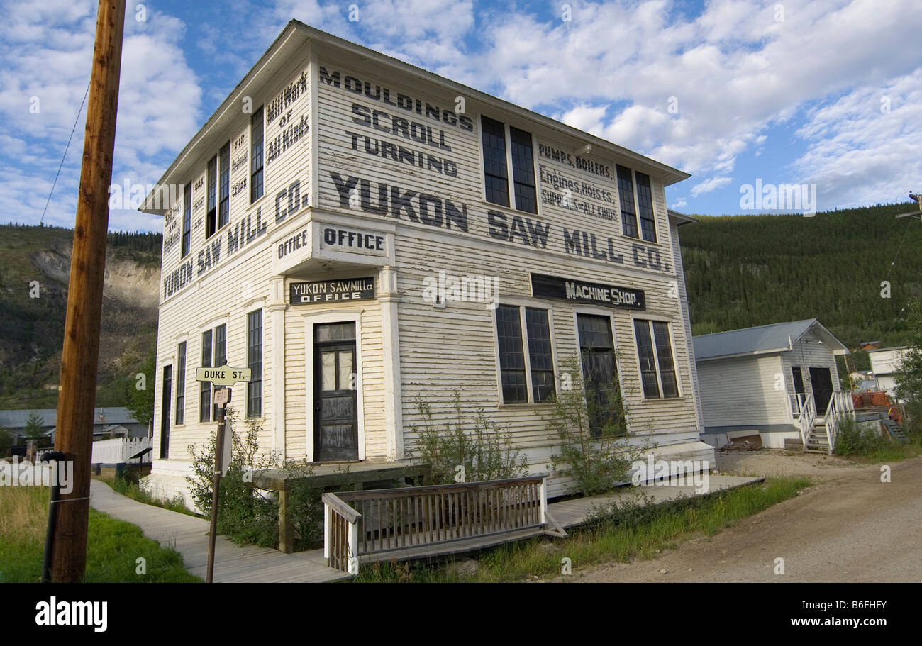 historic wood building yukon saw mill klondike gold rush. Black Bedroom Furniture Sets. Home Design Ideas