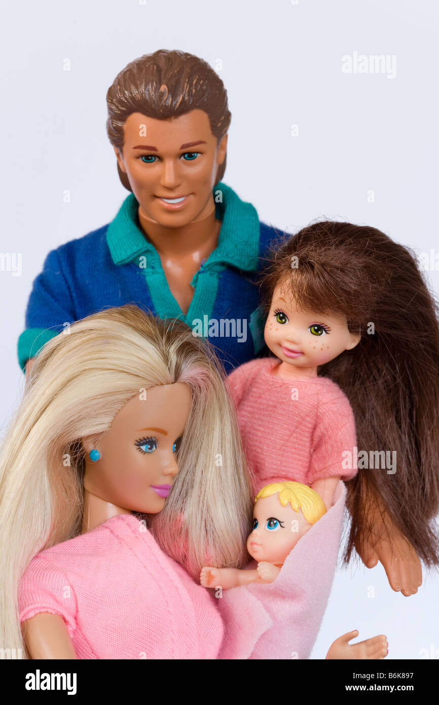 barbie ken and doll children barbie 39 s family stock photo 21321923 alamy. Black Bedroom Furniture Sets. Home Design Ideas