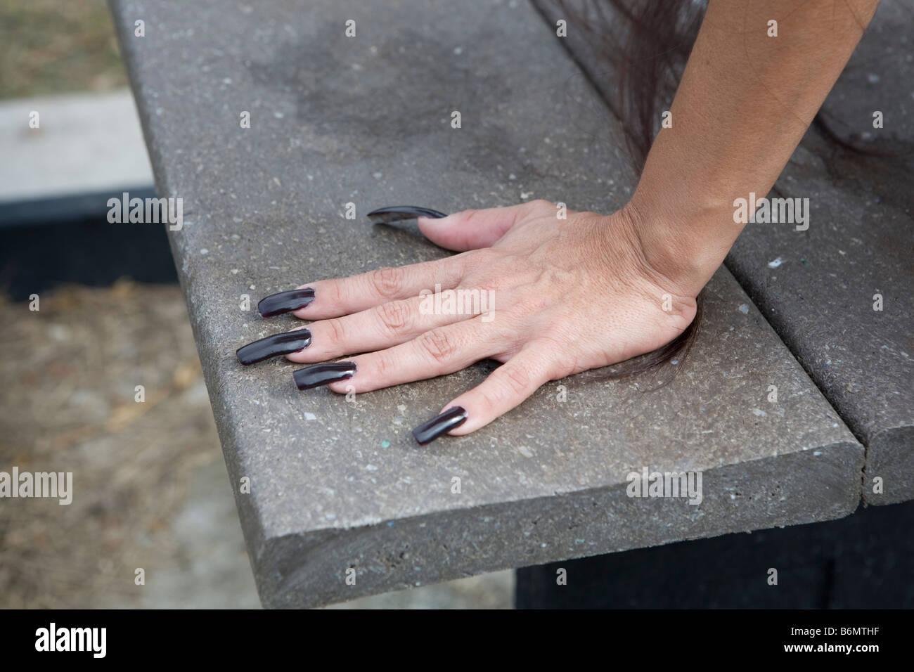 Mature Long Nails 121