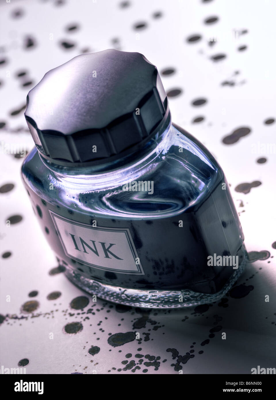 Ink bottle Stock Photo