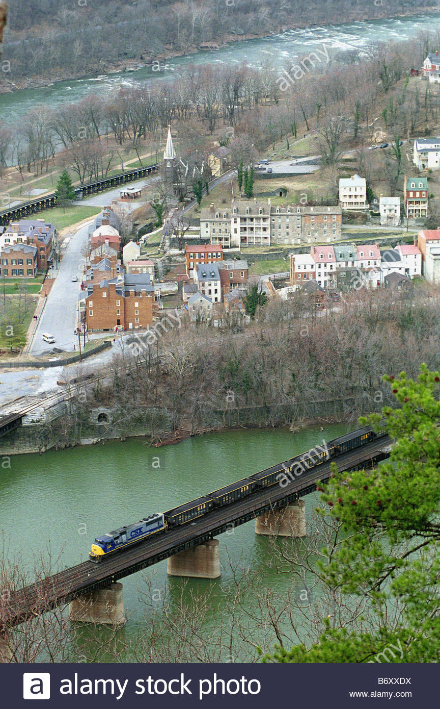4 27 99 CSX AT HARPERS FERRY WEST VIRGINIA A CSX freight ...