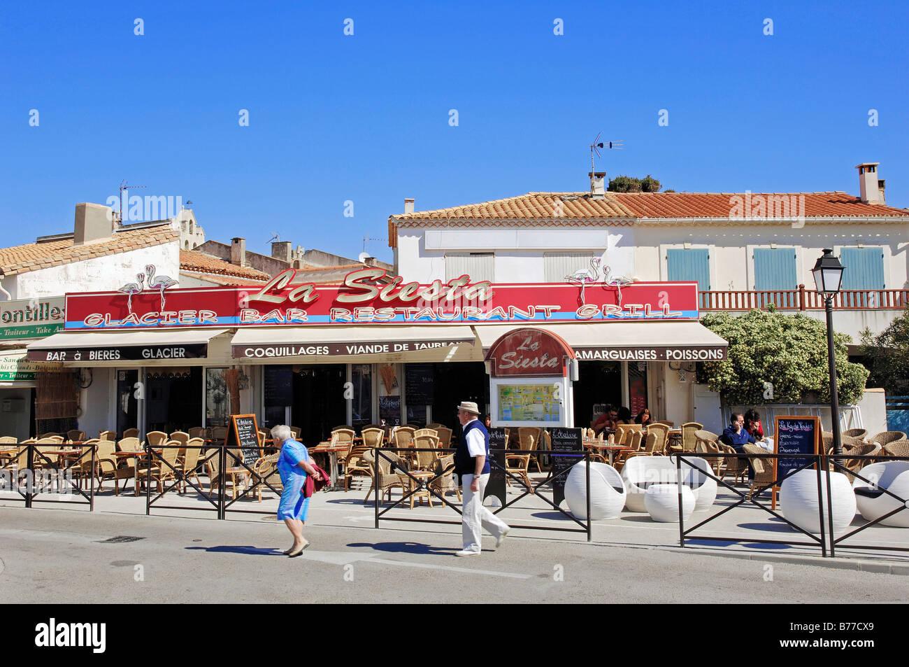 restaurant les saintes maries de la mer camargue bouches du rhone stock photo royalty free