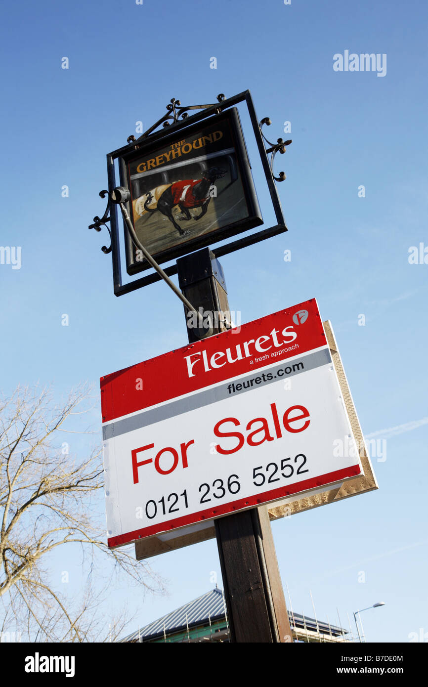 Public House For Sale Stock Photo