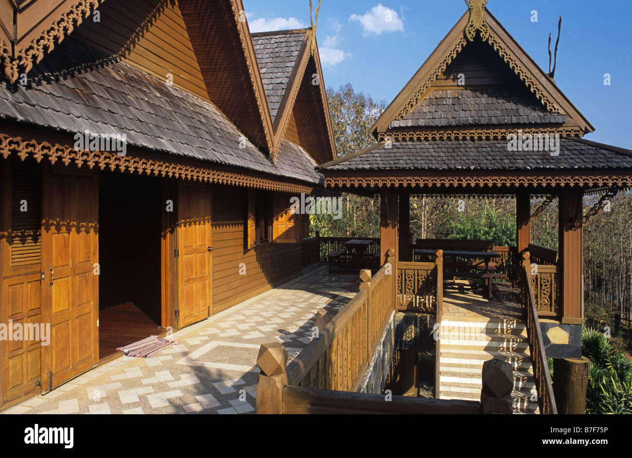 Traditional Lanna Style Thai Wooden House Mae Salong