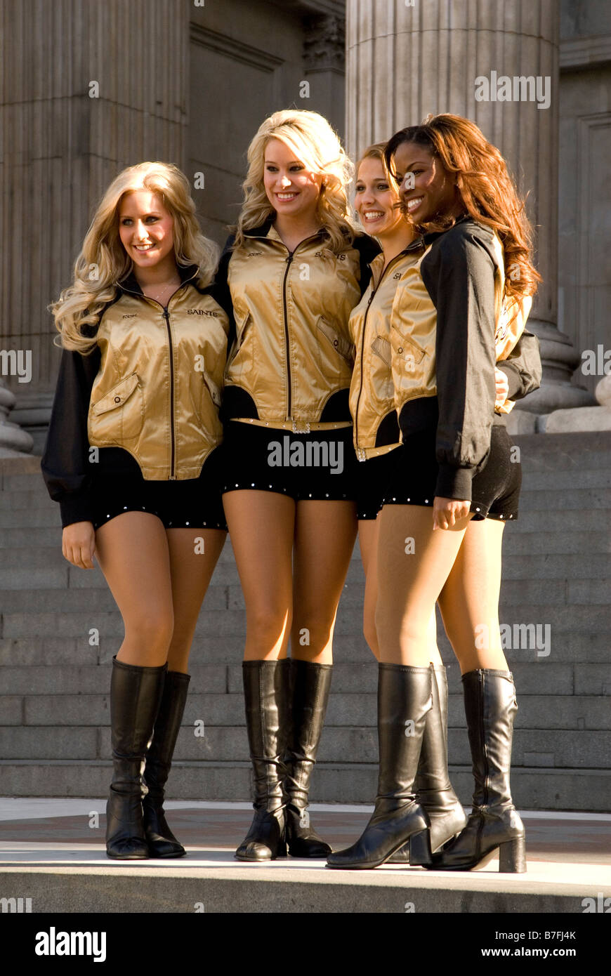 New Orleans Saints Cheerleaders Pose In London October