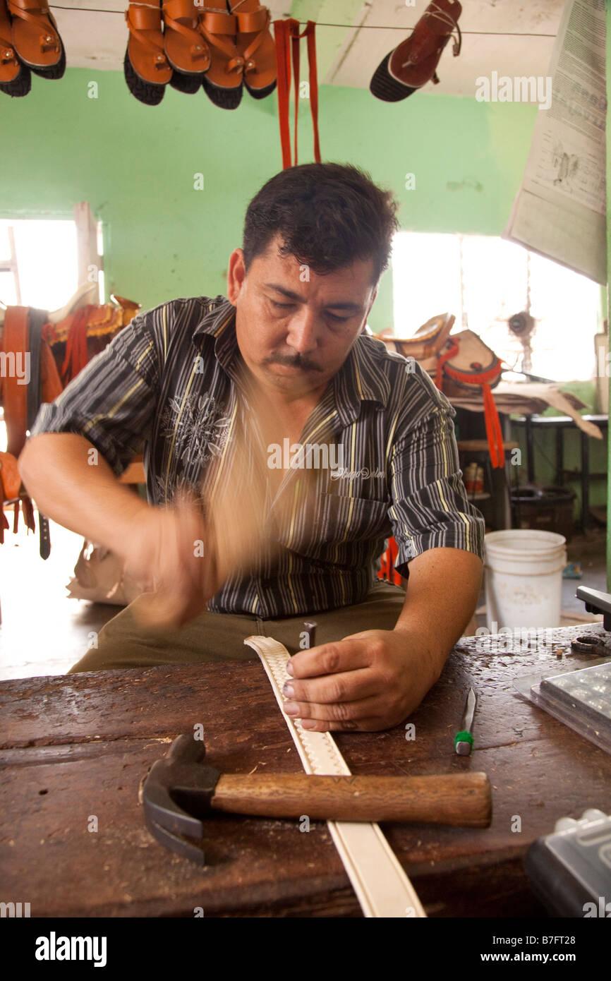 sandal maker la noria village near mazatlan sinaloa mexico stock photo royalty free image. Black Bedroom Furniture Sets. Home Design Ideas