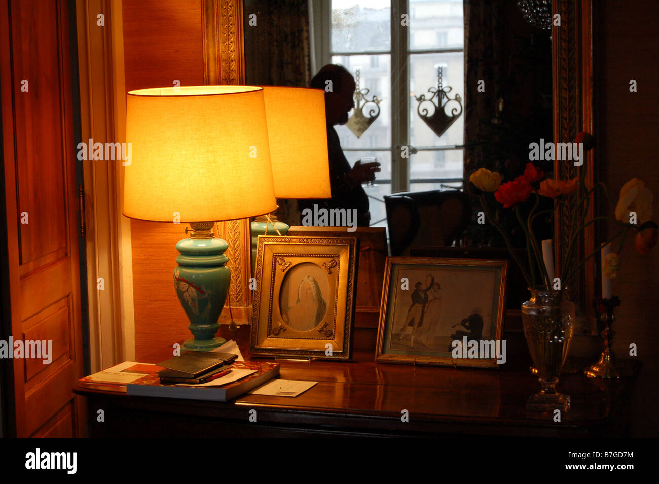 Interior of a flat in Paris Stock Photo