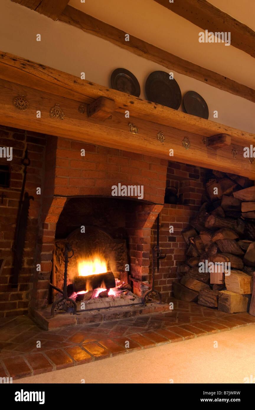 Inglenook Fireplace Stock Photo 21928365 Alamy