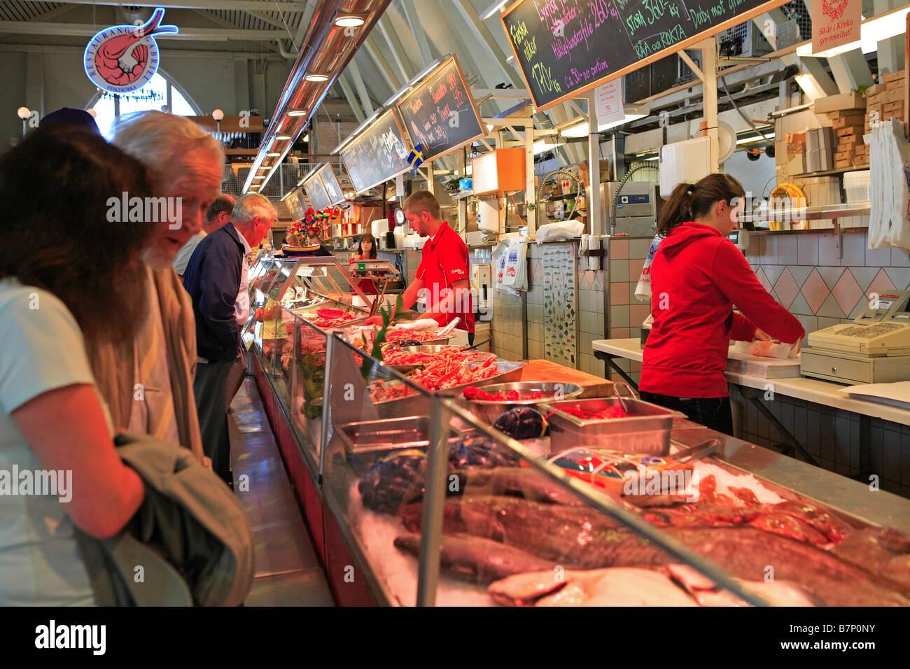 Sweden gothenburg feskekorka fish market 39 the fish for Best fish market nyc