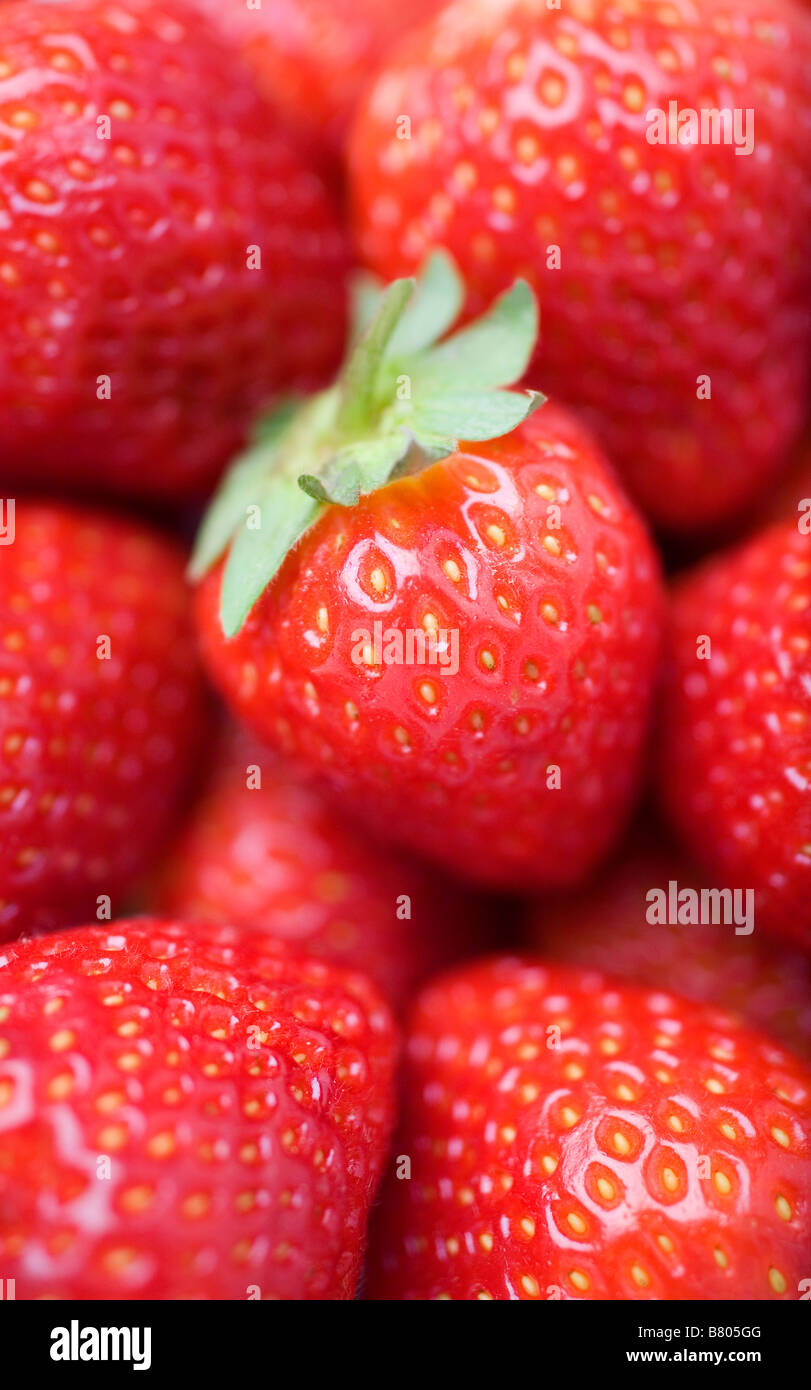 Strawberries, close up Stock Photo, Royalty Free Image ...