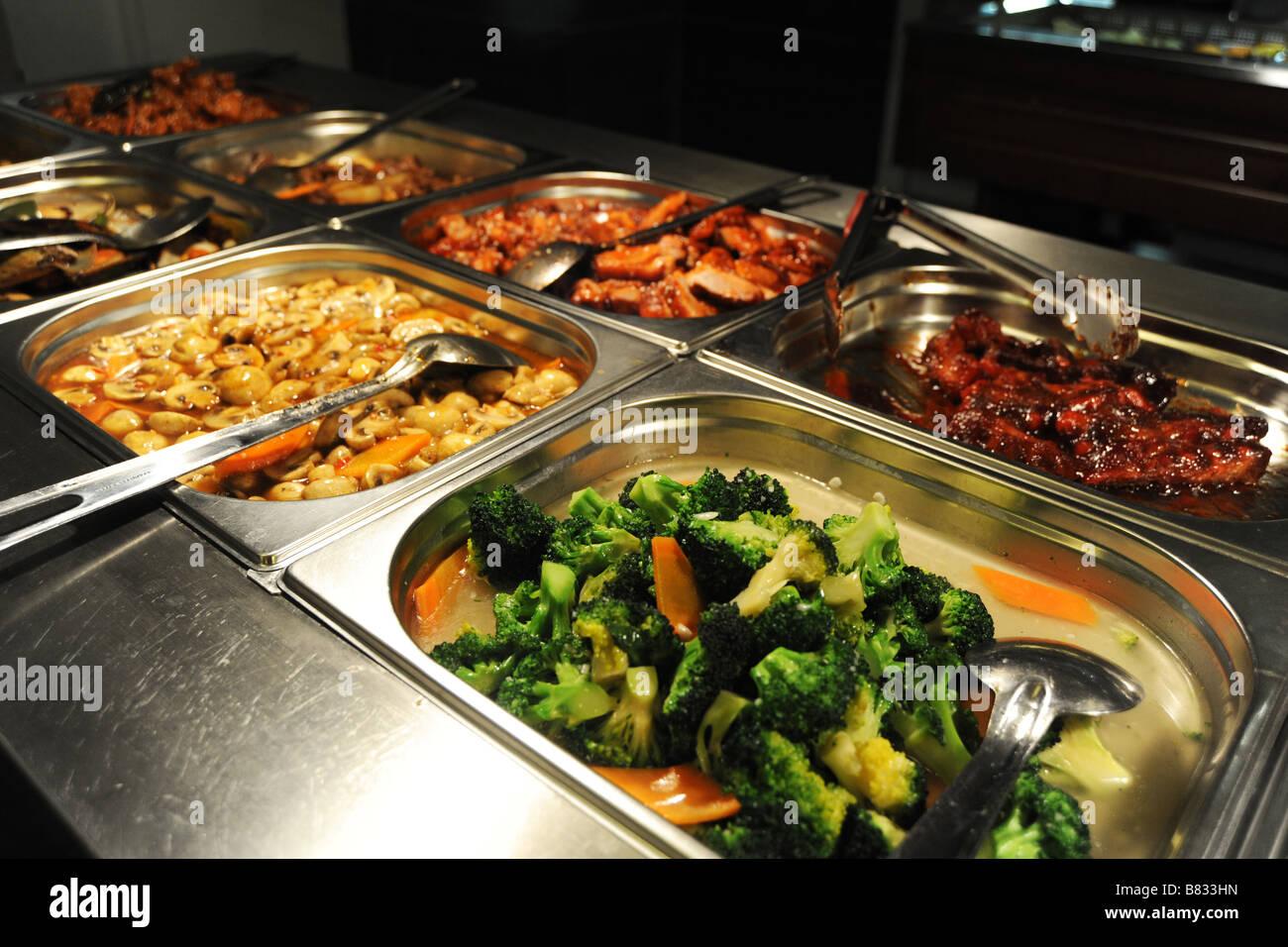 Have asian buffet food sea