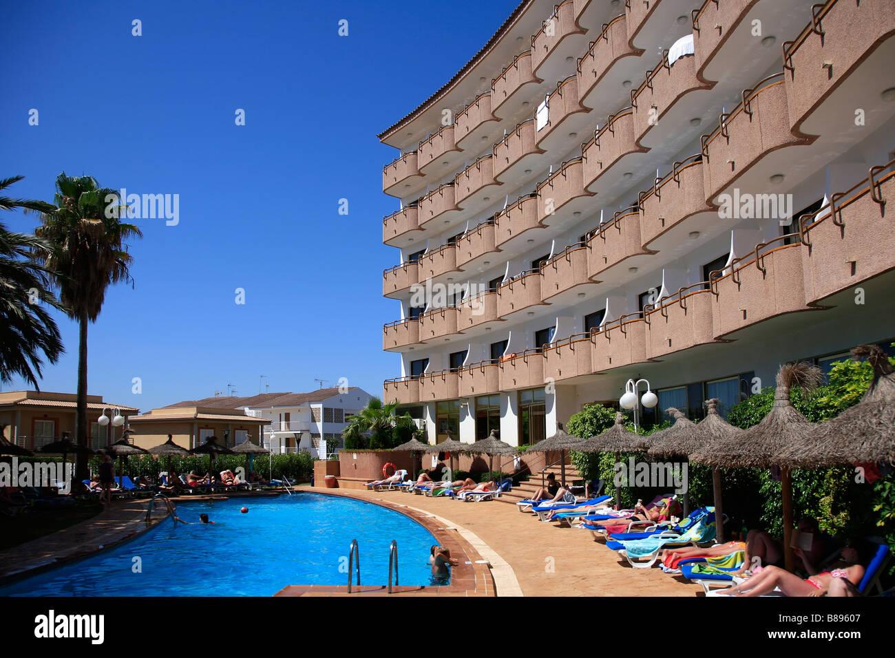 Swimming Pool At 4star Hotel Maritimo Puerto De Alcudia Town Mallorca Stock Photo 22329895 Alamy