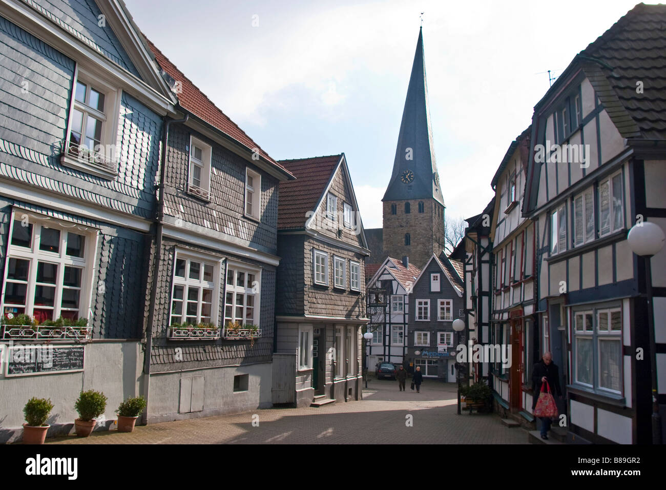 Traditional german architecture in the old town of for Architecture nazi