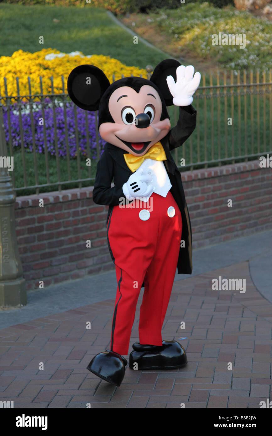 Mickey Mouse waving Disneyland California Stock Photo ...