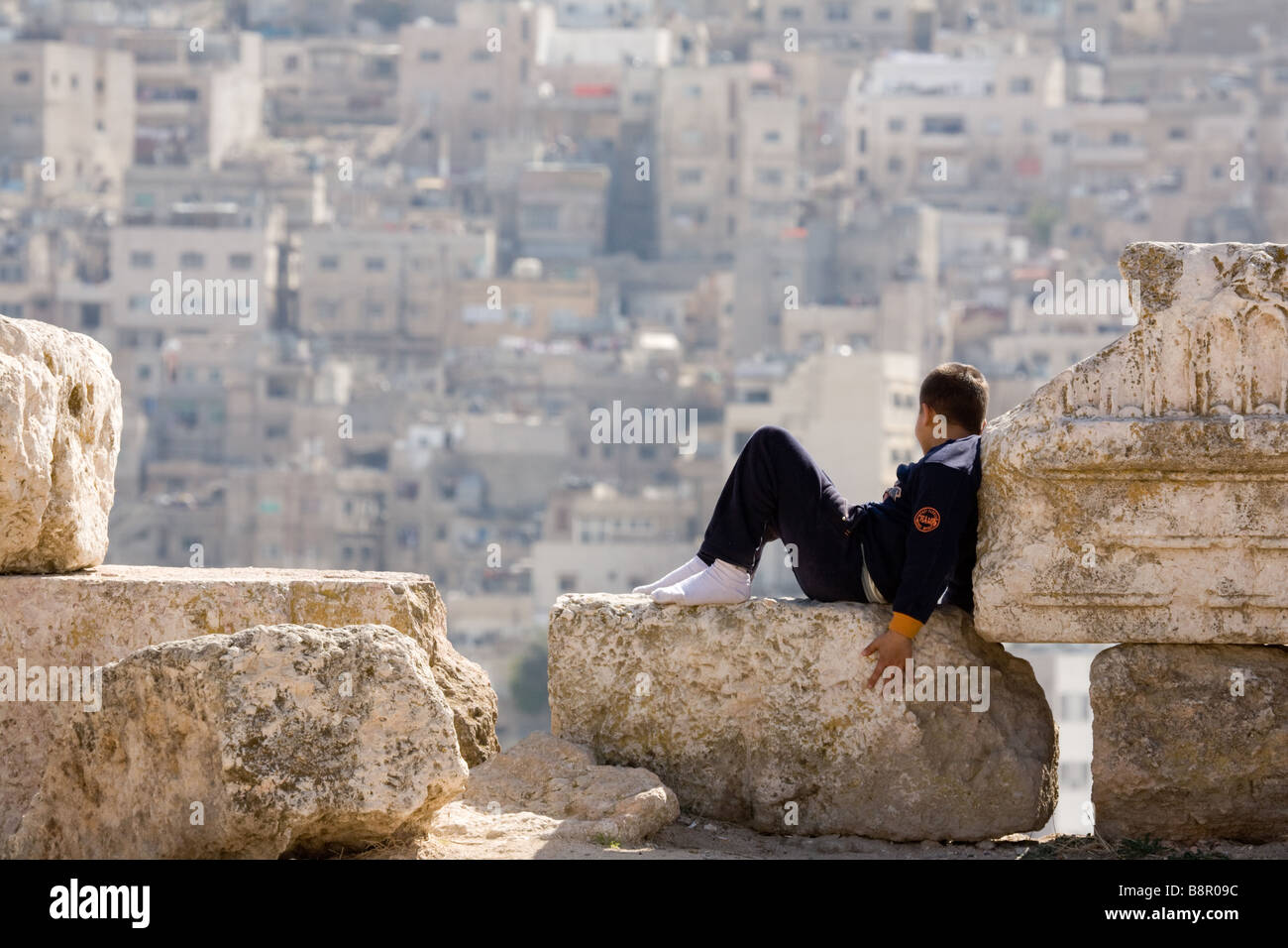 a-young-jordanian-boy-child-looking-out-