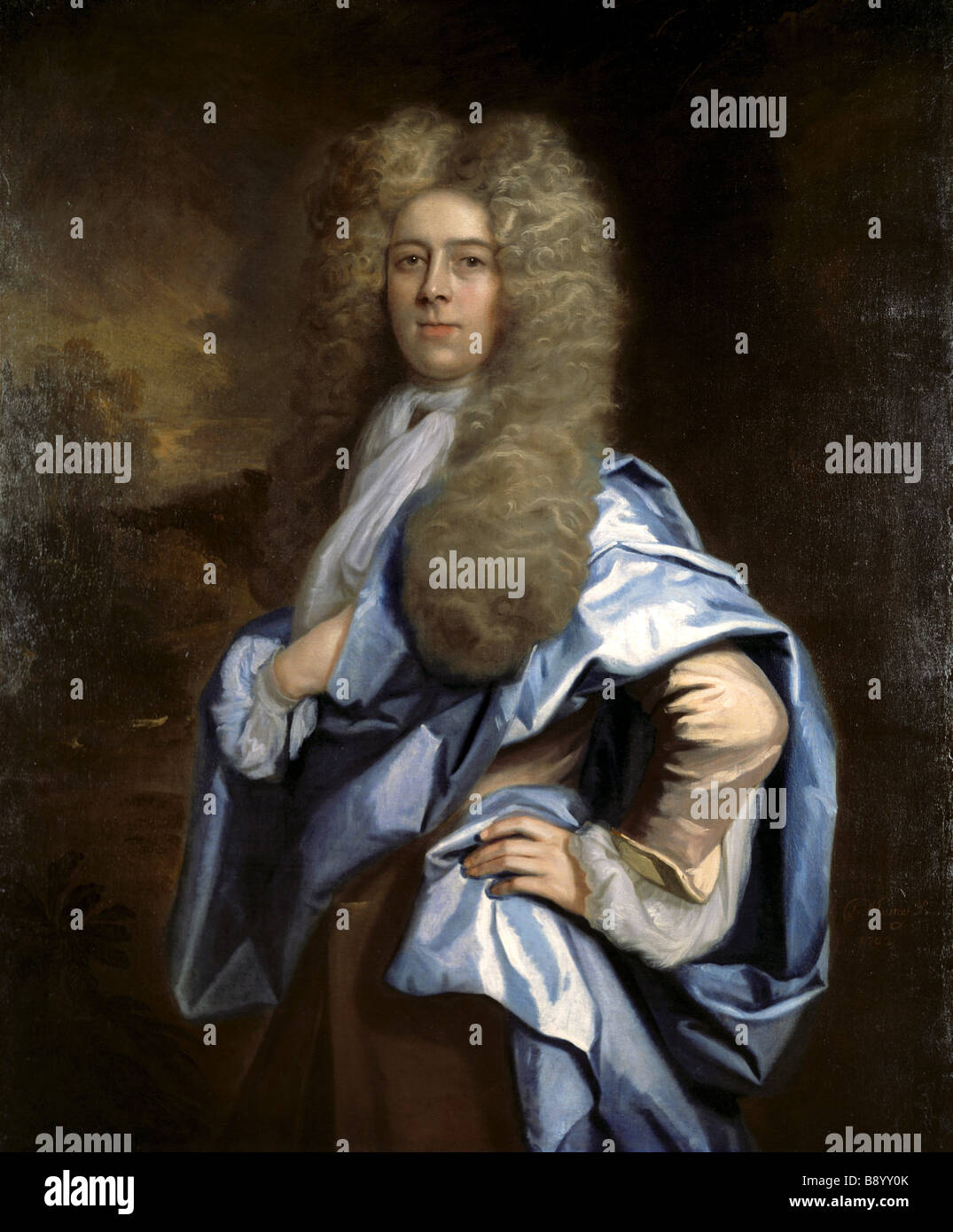 PORTRAIT OF AN UNKNOWN MAN by Thomas Murray in the Treasurer s House York post conservation Stock Photo