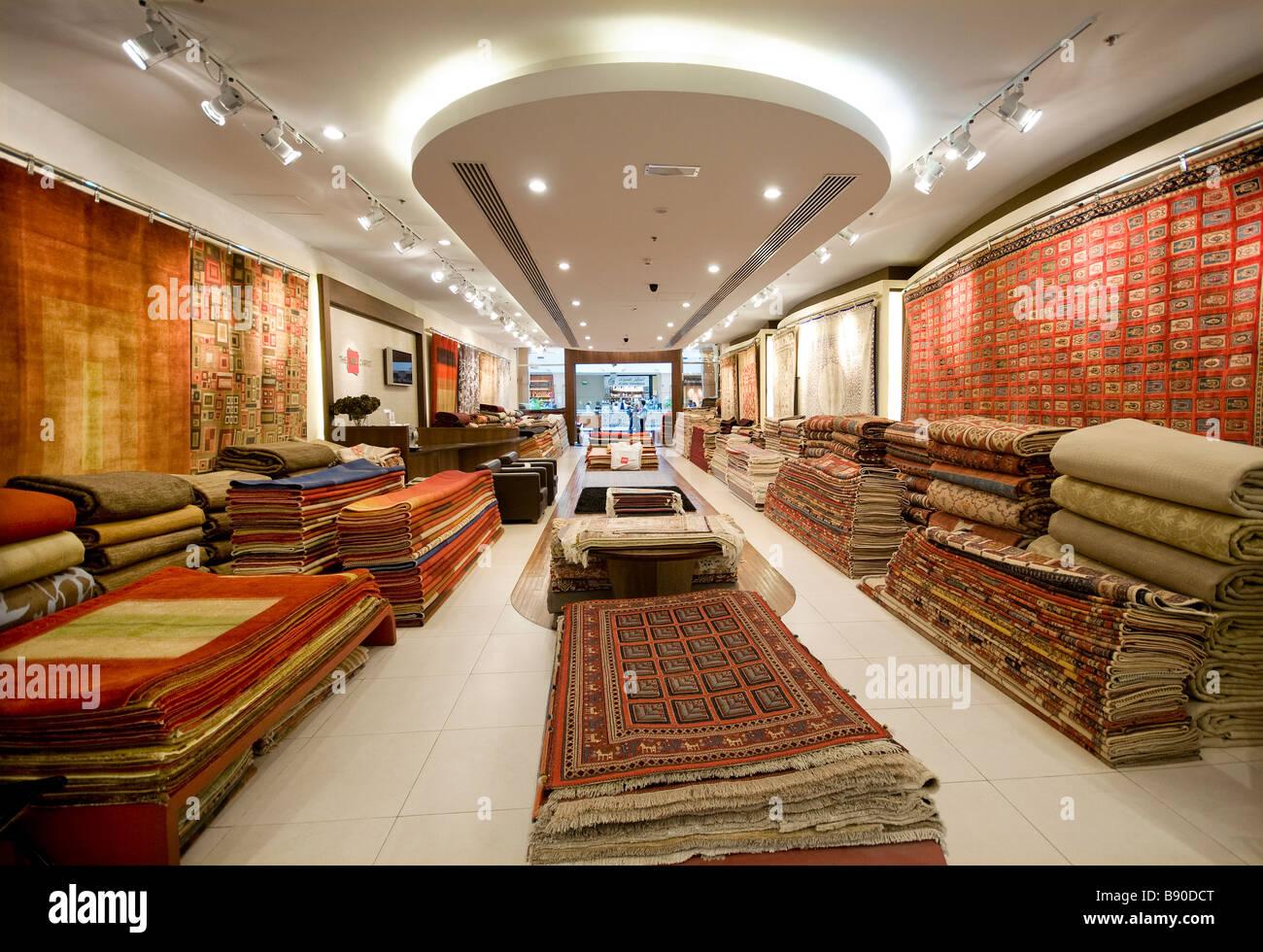 Rug And Carpet Store Shopping Mall Dubai Uae Stock