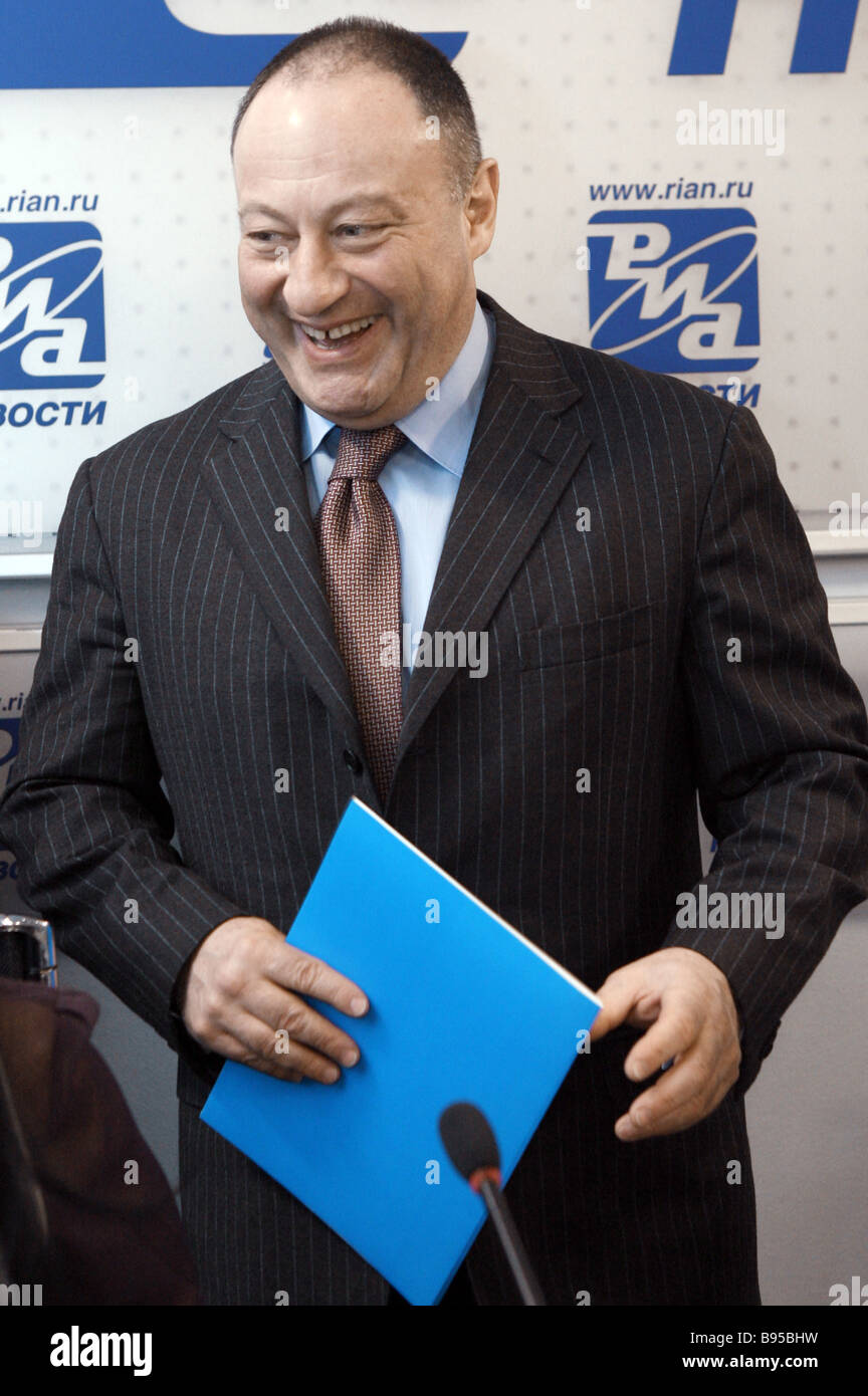 Vladimir Slutsker member of the Federation Council and chairman of the United Commission on Nationalities Policy Stock Photo