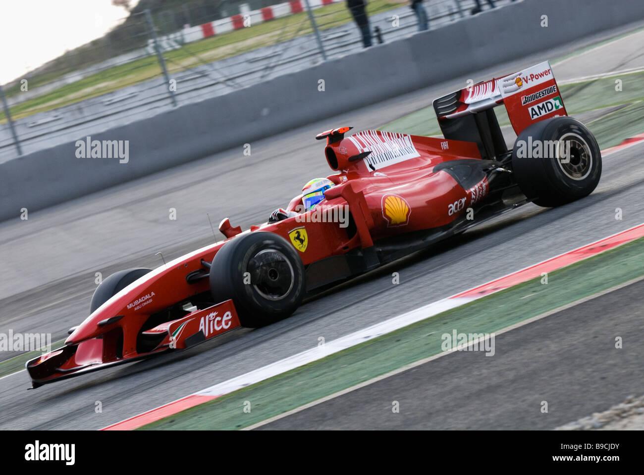 Felipe Massa Bra In The Ferrari F60 Racecar During Formula