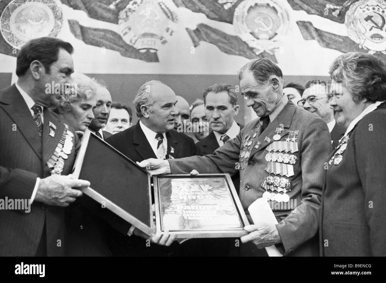 Hero of Socialist Labor and kolkhoz innovator Terenty ...