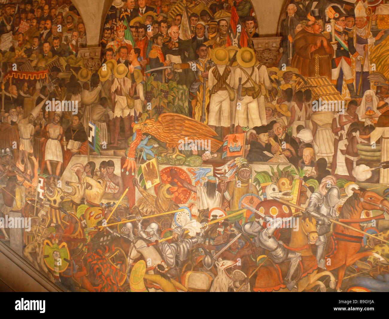 Mexico mexico city palacio nacional murals artist diego for Diego rivera mural palacio nacional
