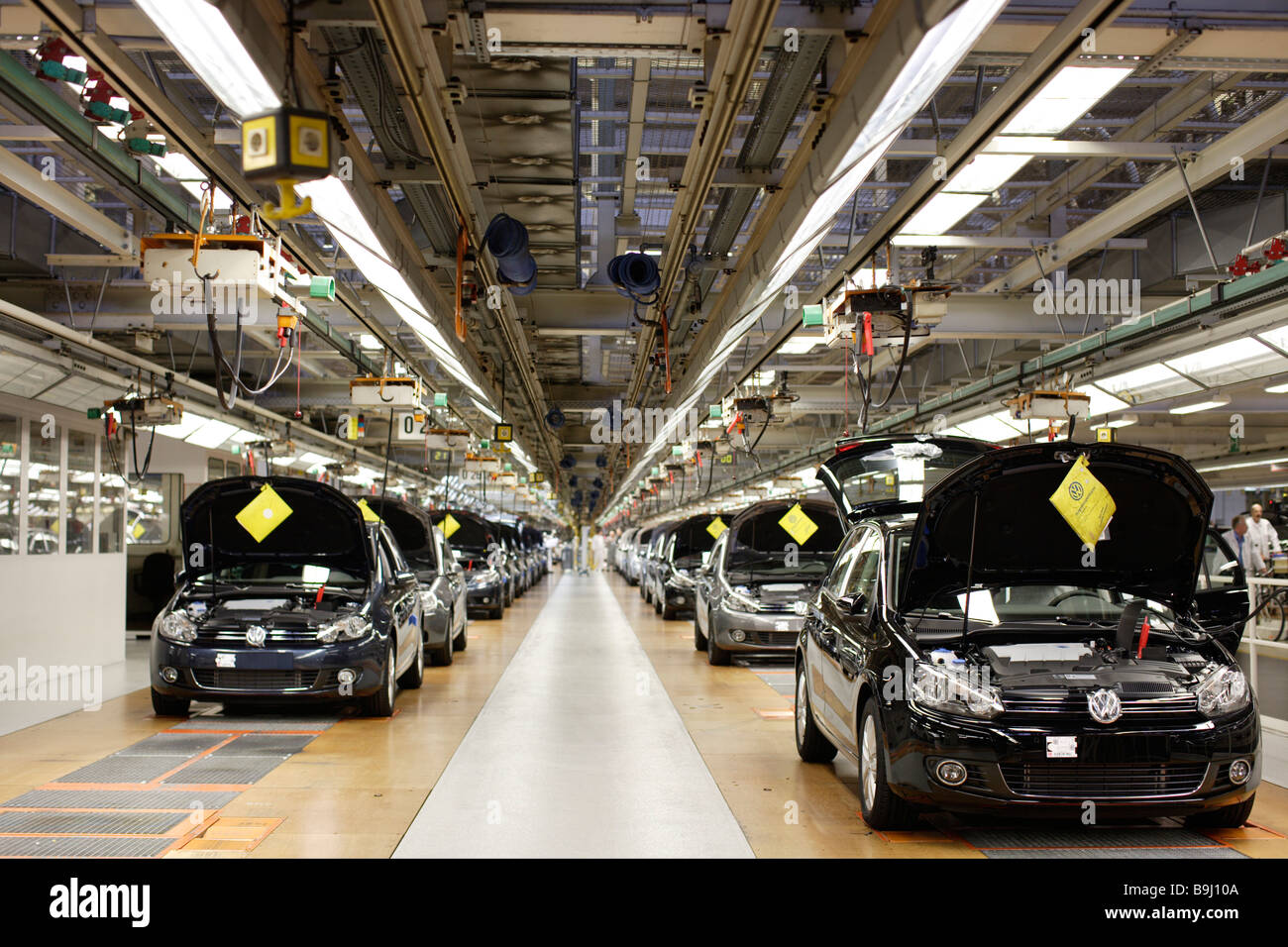 golf car production vw werk wolfsburg vw car factory wolfsburg stock photo royalty  image