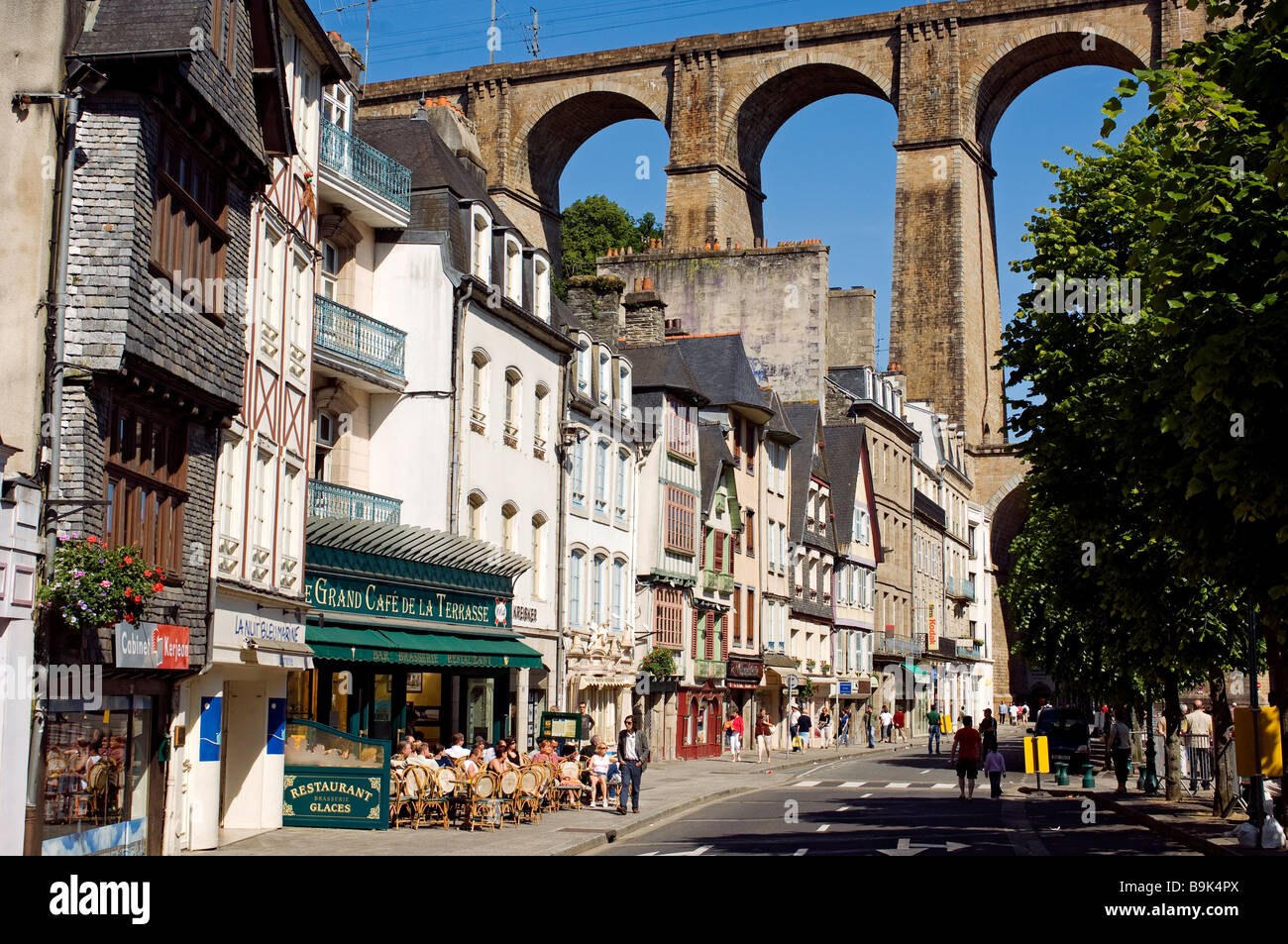 france finistere morlaix viaduct stock photo royalty free image 23163138 alamy. Black Bedroom Furniture Sets. Home Design Ideas