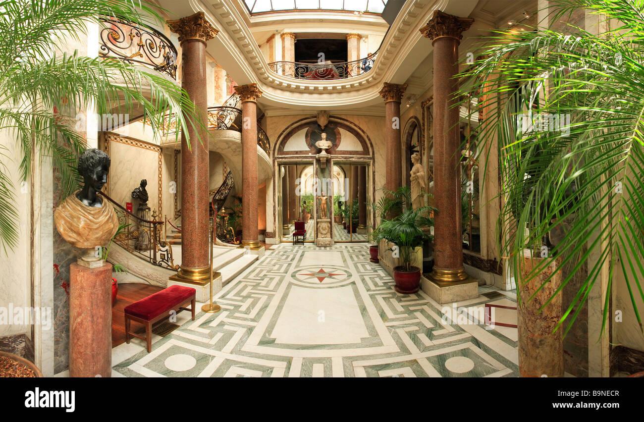 winter garden of jacquemart andre museum paris stock photo. Black Bedroom Furniture Sets. Home Design Ideas