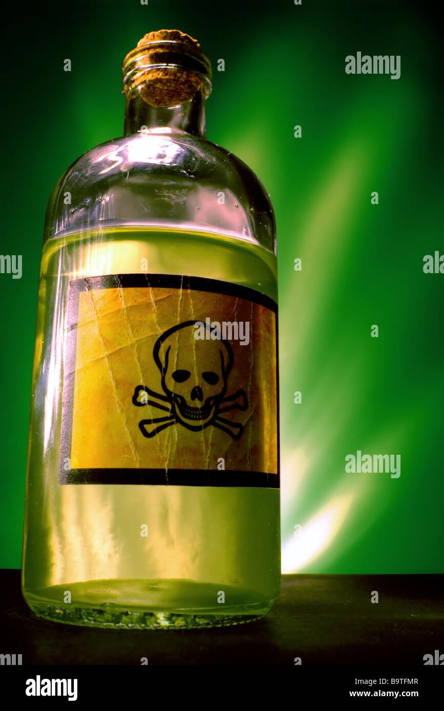 Poison bottle Stock Photo