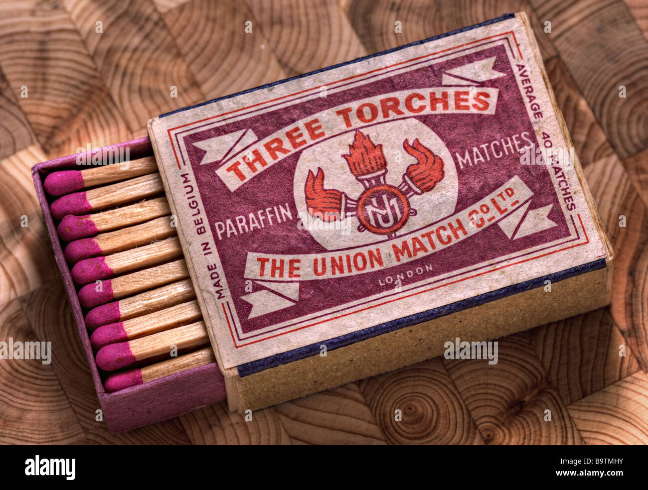 Vintage matchbox from 1960's Stock Photo