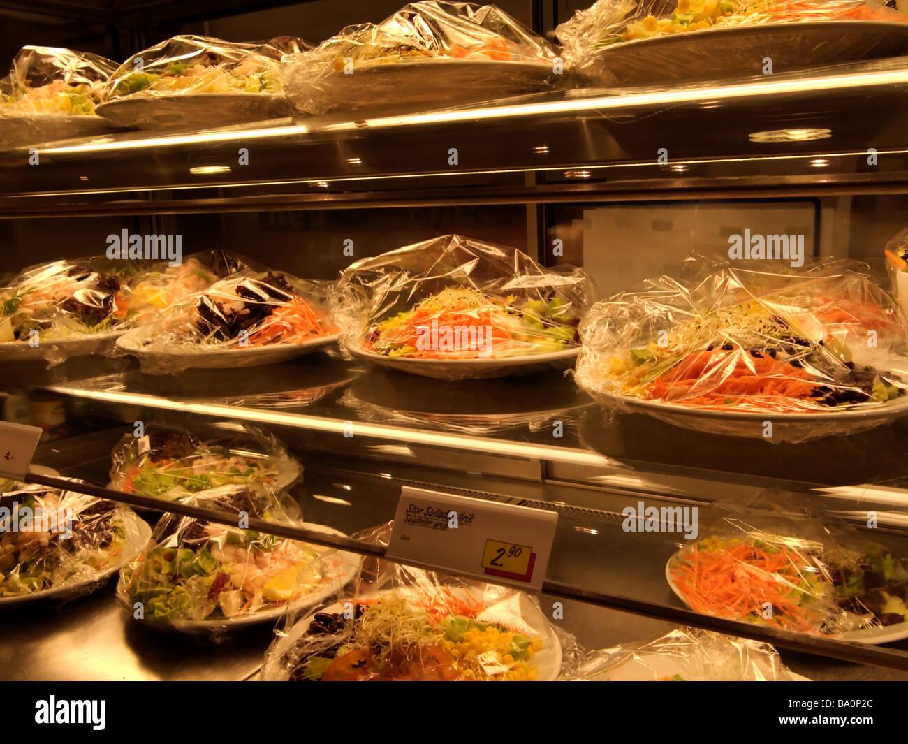 Self service salad food bar in a cafe restaurant stock for Food bar 36 cafe