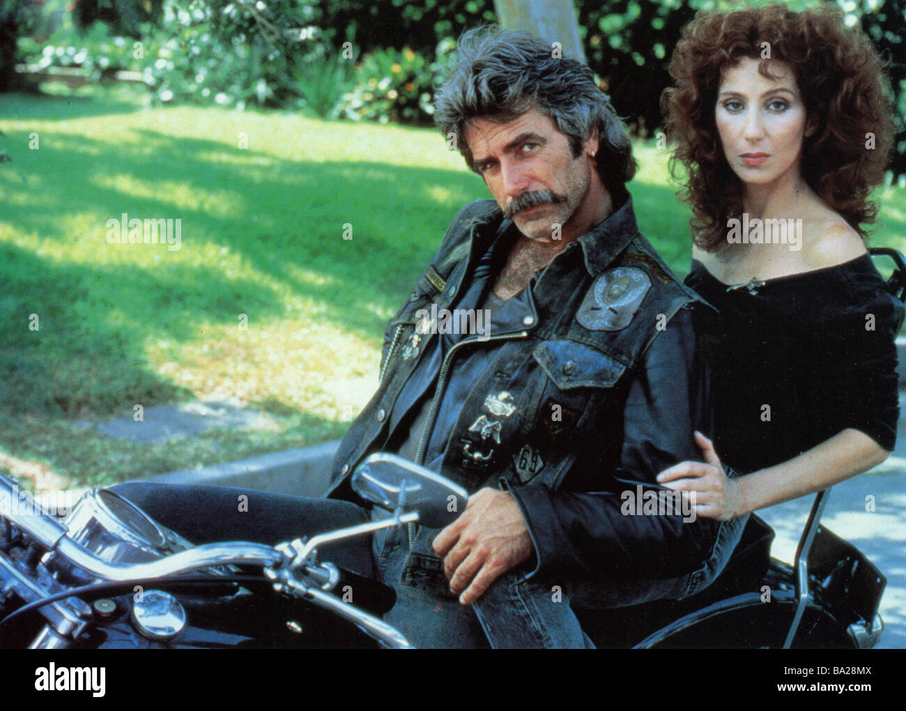 MASK 1985 Universal film with Cher and Sam Elliott Stock ...