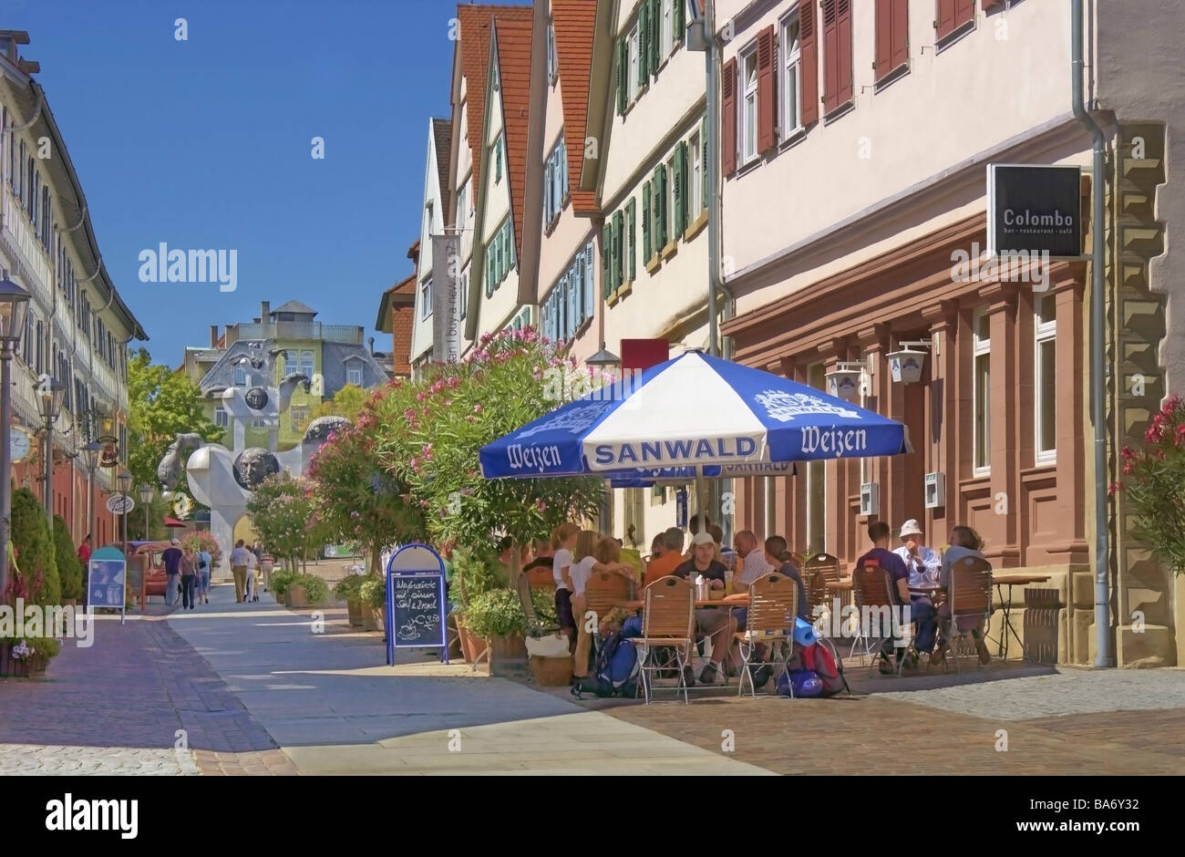 Germany baden w rttemberg bietigheim bissingen pedestrian zone stock photo royalty free image - Fensterbau bietigheim bissingen ...