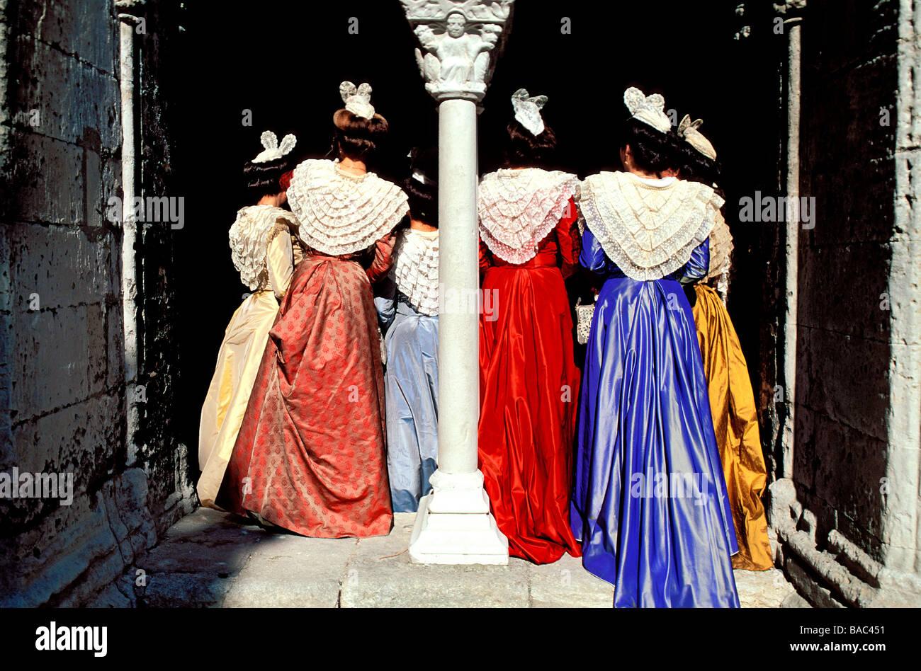 france bouches du rhone camargue arles costume festival saint stock photo royalty free. Black Bedroom Furniture Sets. Home Design Ideas