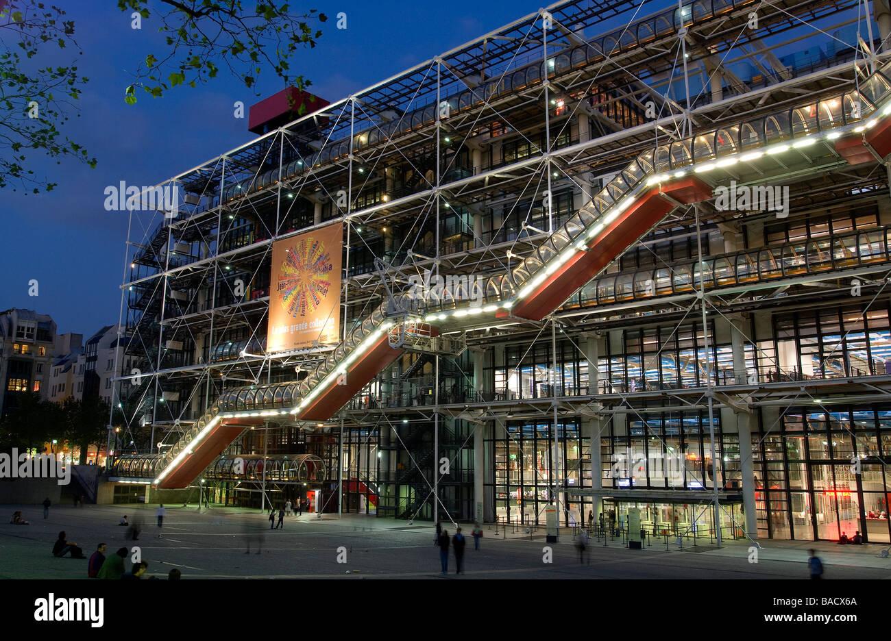 France paris centre pompidou by architects renzo piano - Centre george pompidou architecture ...
