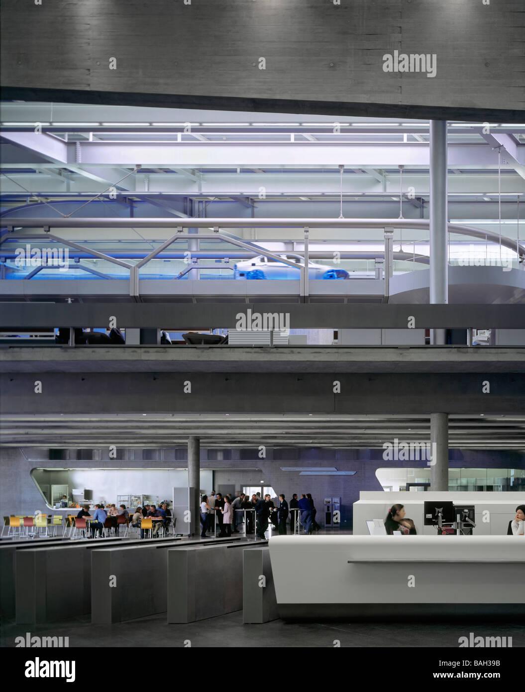 Bmw Plant Leipzig Central Building Leipzig Germany Zaha Hadid Bmw Stock Photo Royalty Free