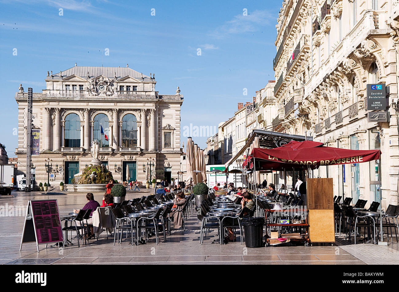 france herault montpellier place de la comedie comedy square stock photo royalty free image. Black Bedroom Furniture Sets. Home Design Ideas