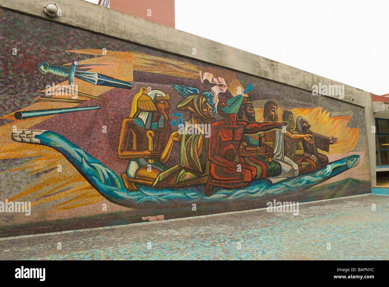 jose chavez morado mosaic mural el retorno de