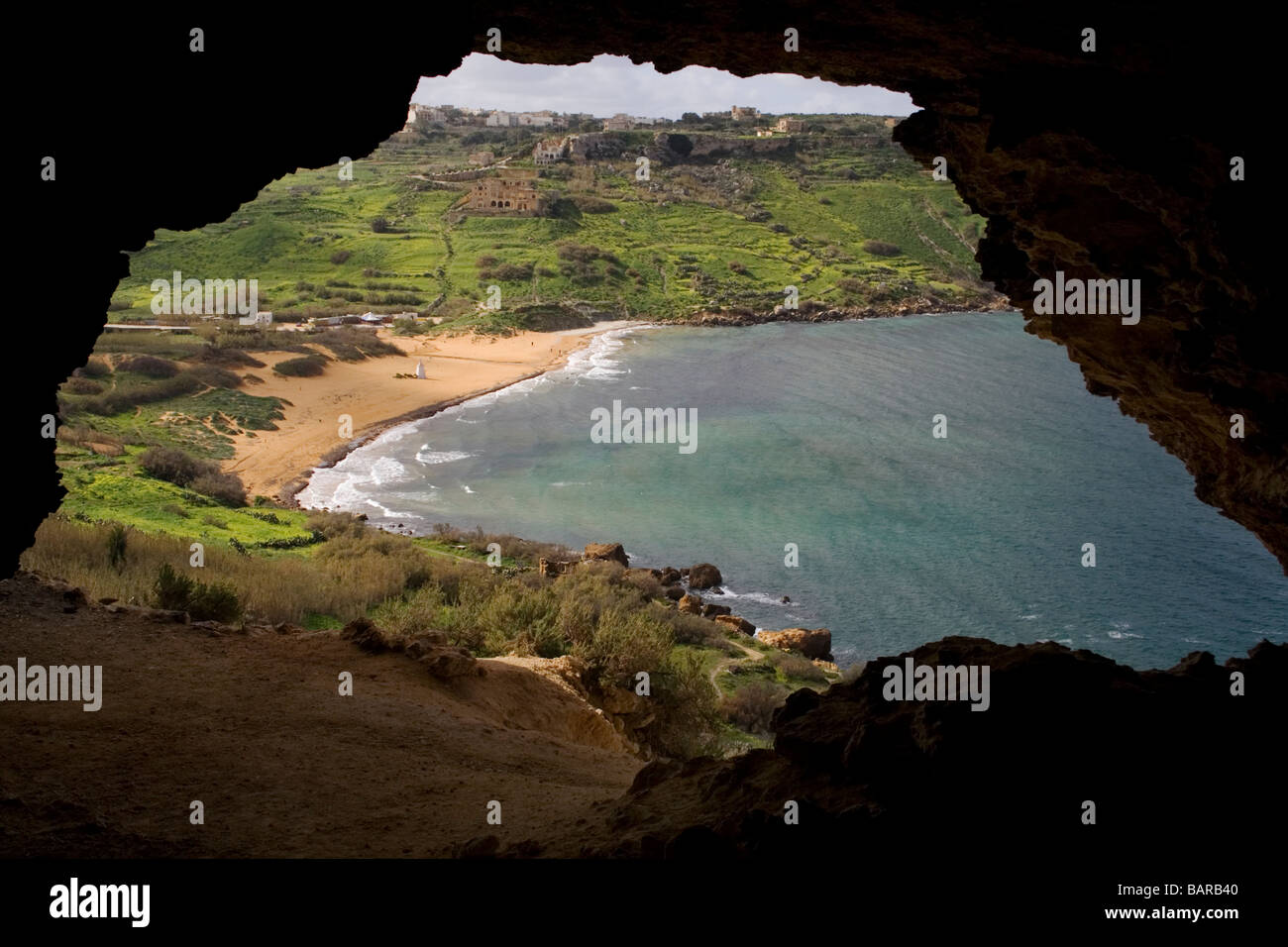 ramla-bay-gozo-as-seen-from-a-cave-overl