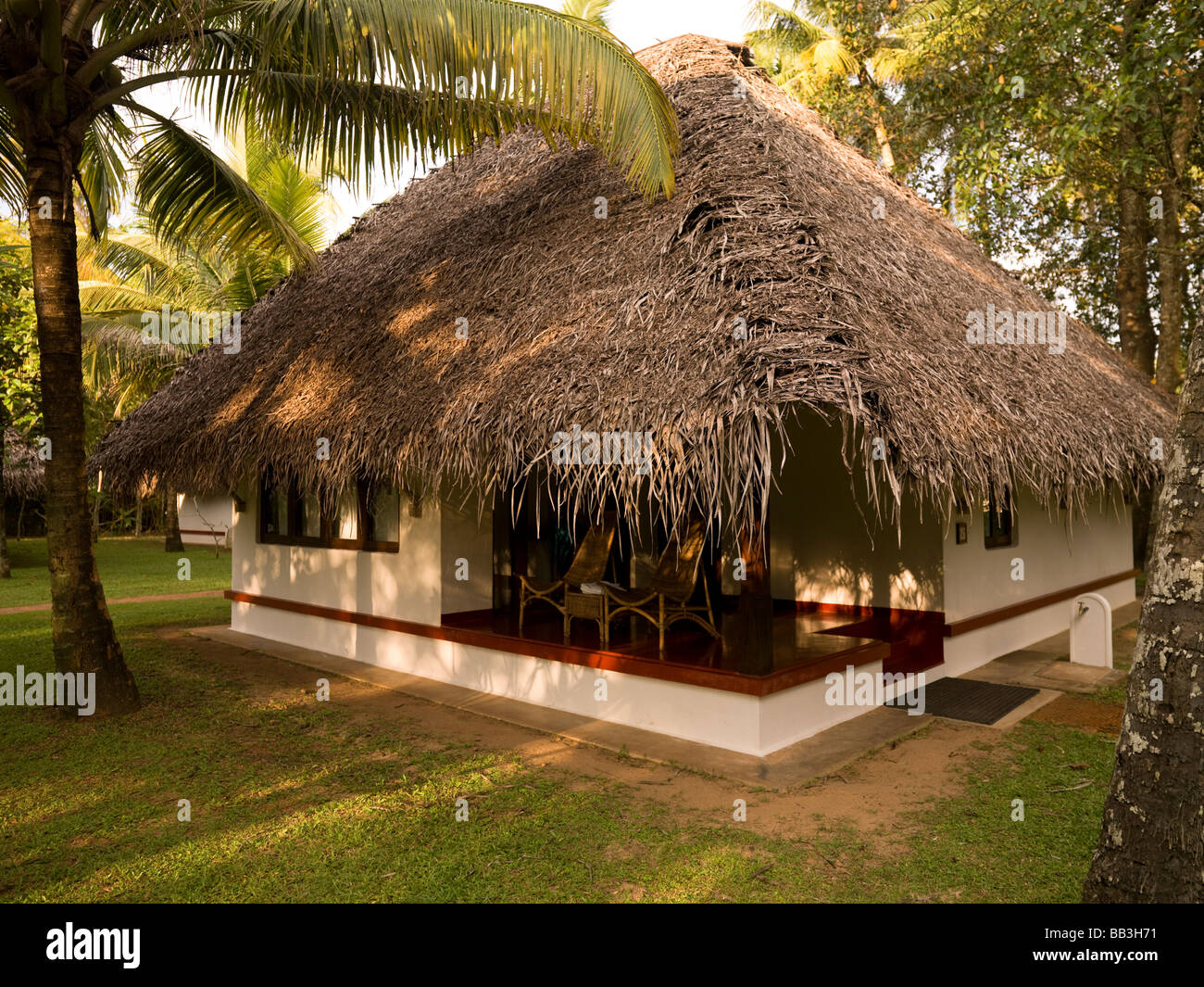 Bungalows And Swimming Pool Marari Beach Alleppey Kerala India Stock Photo 24050965 Alamy