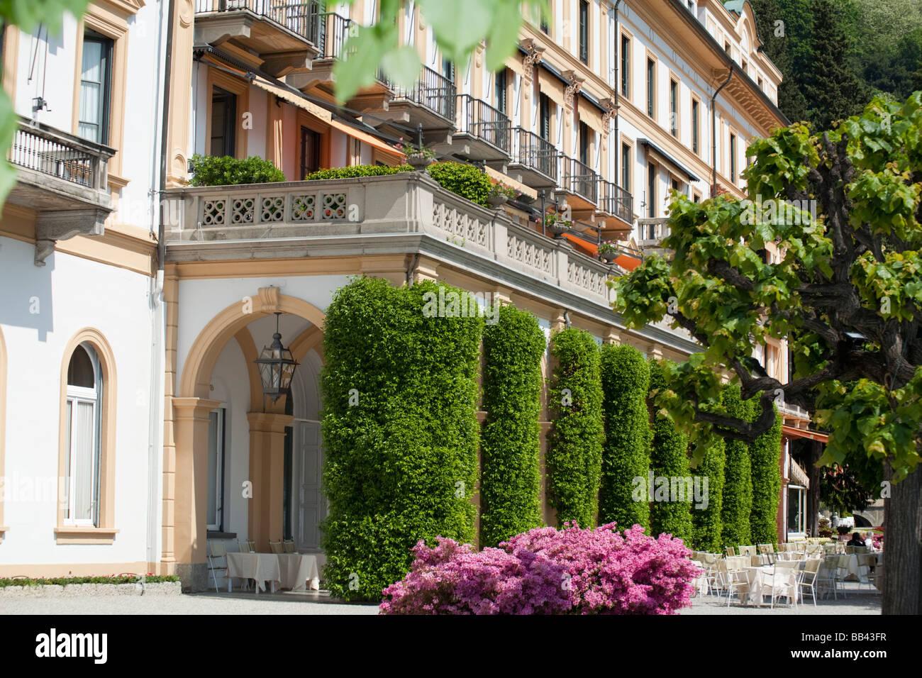 Detail of facade of villa d 39 este luxury hotel front lake for Hotel villa d este como