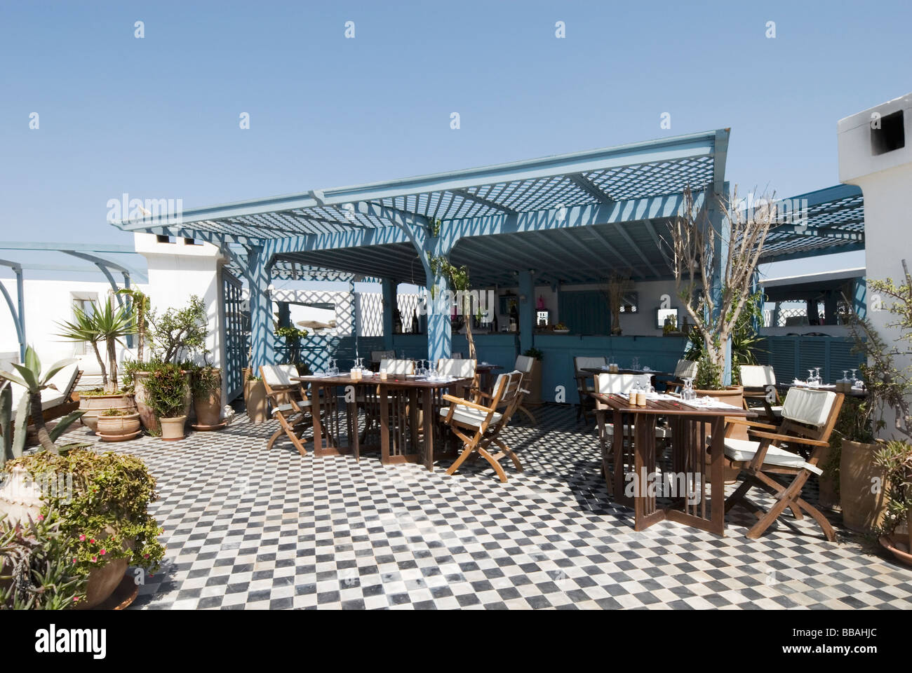 Rooftop terrace restaurant and bar at l 39 heure bleue for 211 roof terrace cafe