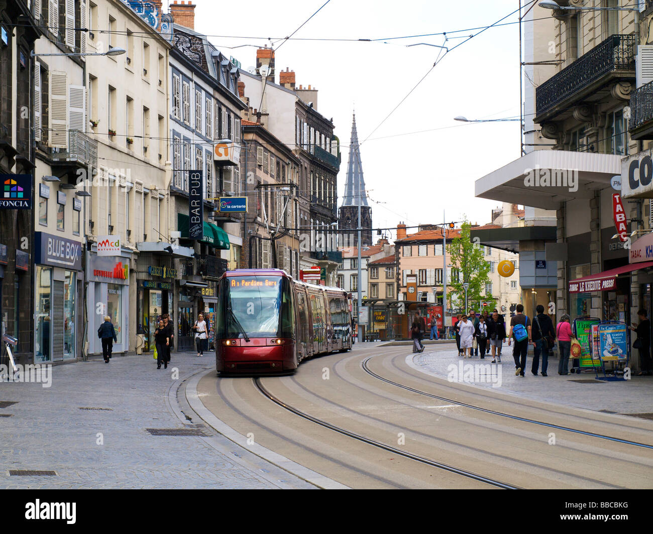 tram in the city of clermont ferrand auvergne france stock photo royalty free image 24244180. Black Bedroom Furniture Sets. Home Design Ideas