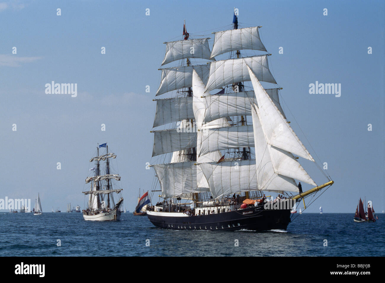 the dutch tall ship brig mercedes imo 5156658 at the annual stock photo royalty free image. Black Bedroom Furniture Sets. Home Design Ideas