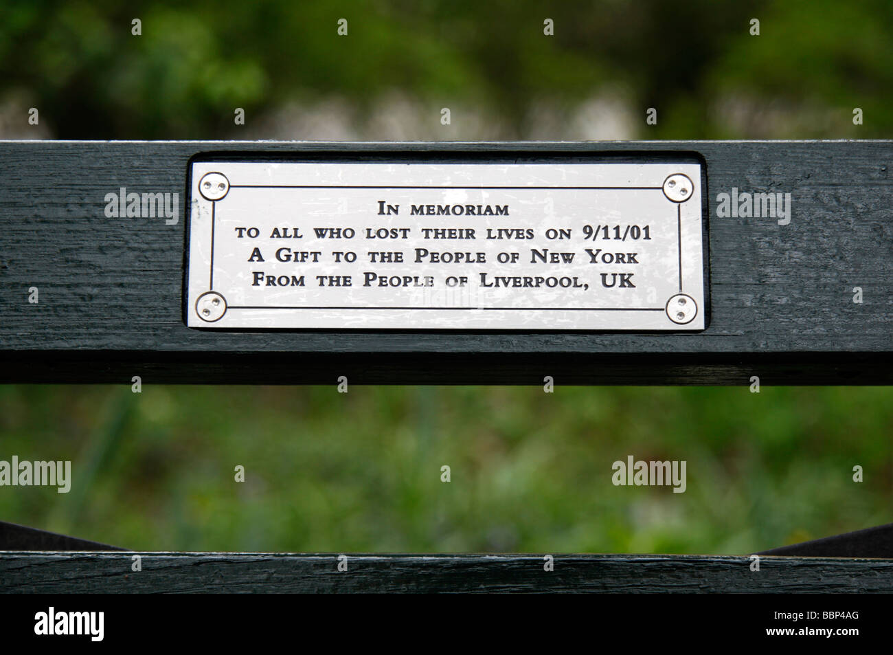 Memorial Bench Plaque The Plaque On A 9 11 Memorial Bench Close To The Quot Imagine
