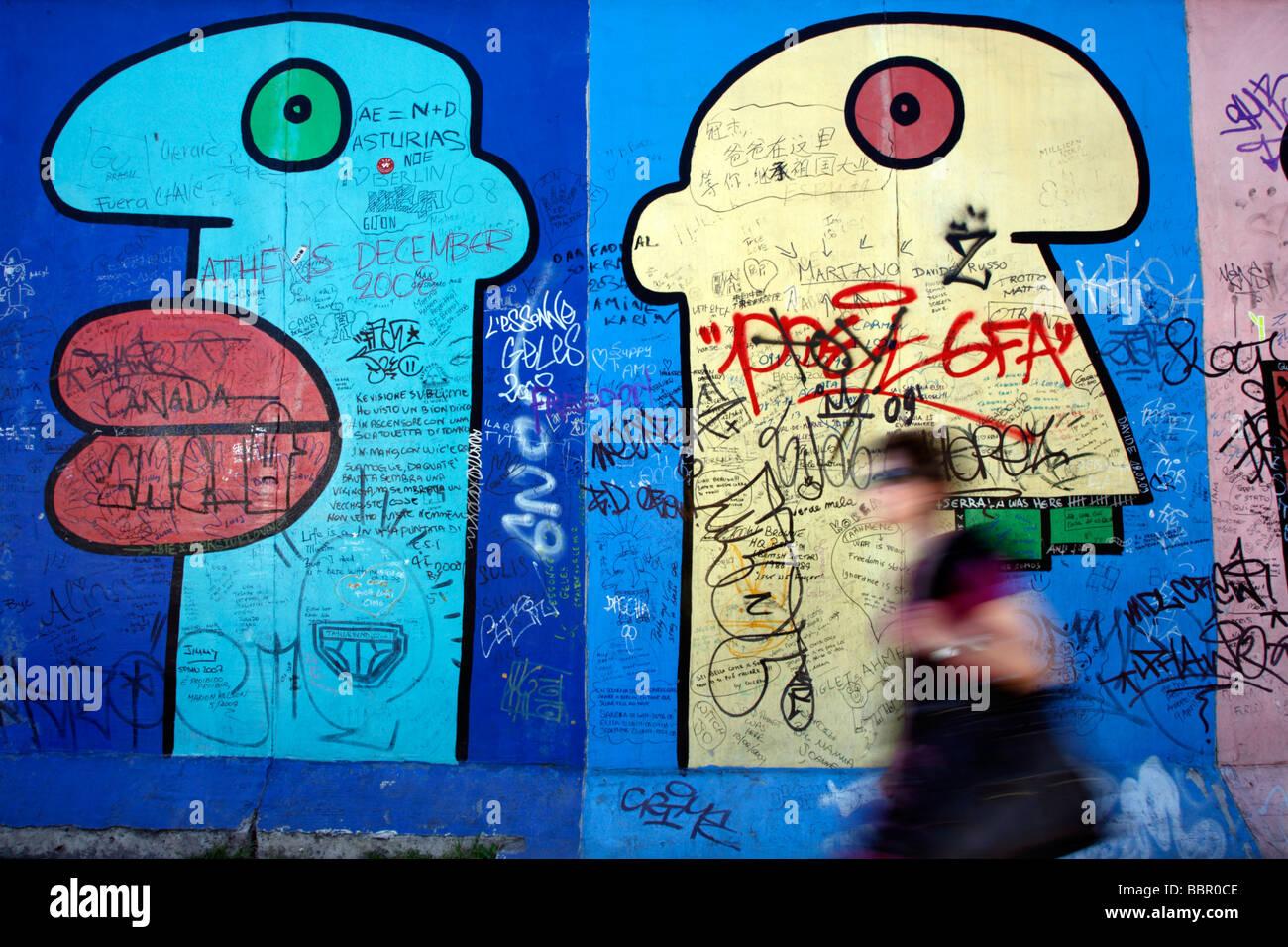 Berlin Wall Germany Stock Foto