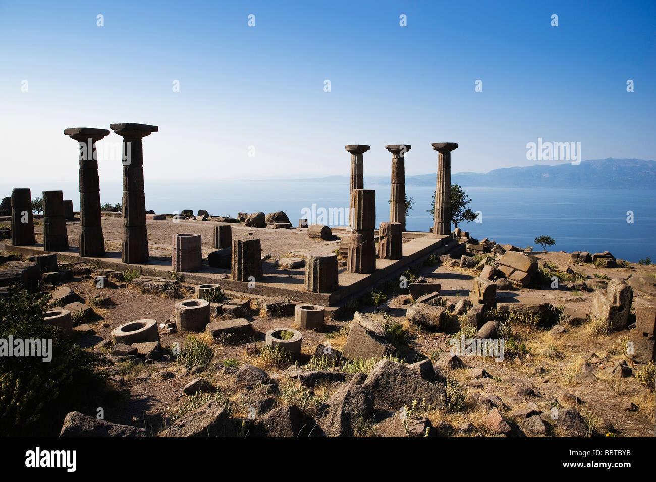 The Greek Temple of Athena, Assos, Behramkale, Turkey ...