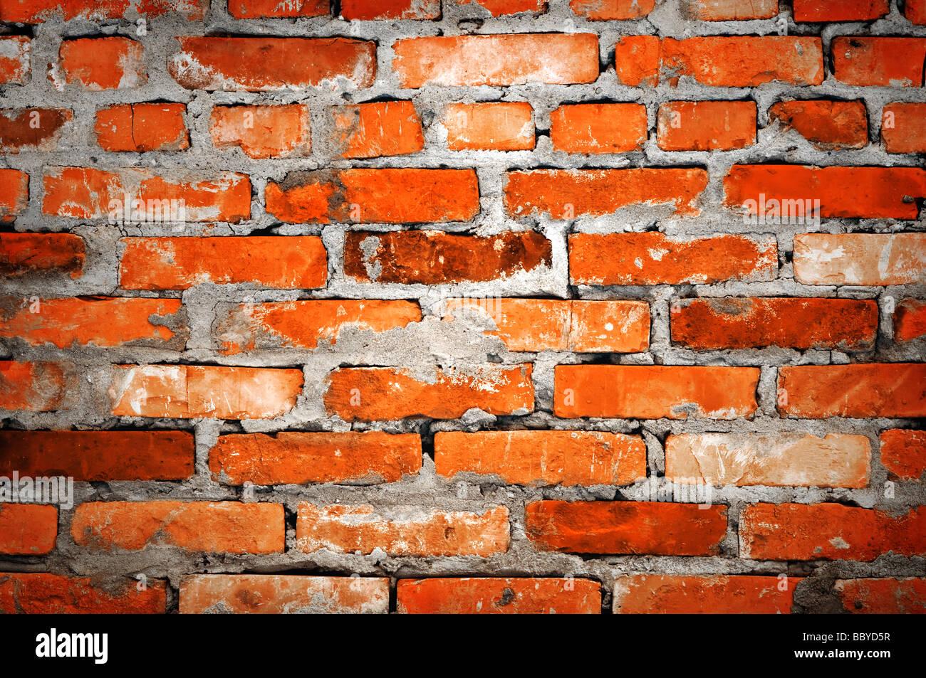 brick wall closeup Stock Foto